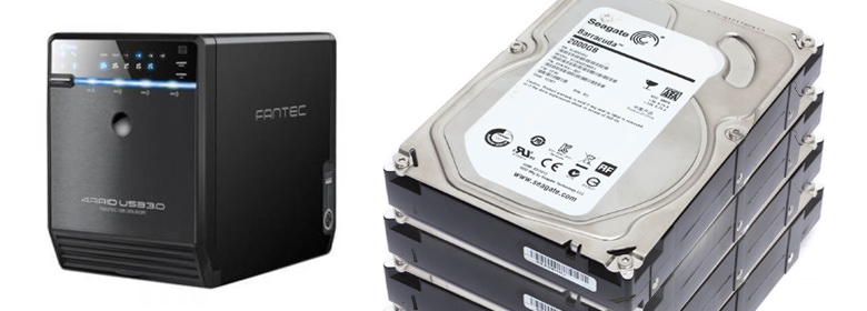 Fantec QB-35US3R and HDD's